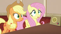 Applejack and Fluttershy surprised S6E20