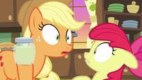 Applejack hears someone coming S7E13