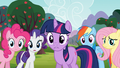 Main 5 concerned for Applejack and Spike S03E09.png