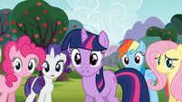 Main 5 concerned for Applejack and Spike S03E09