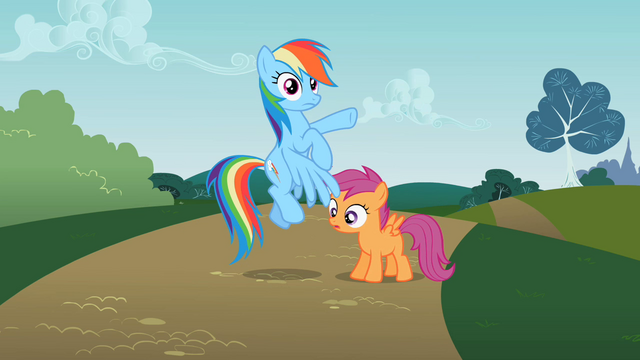 File:Rainbow Dash surprised at Scootaloo S2E8.png