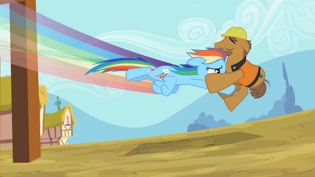 File:Rainbow Dash swooping the construction worker S2E8.png