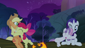 Apple Bloom and Sweetie Belle hugging their respective sisters S3E06.png