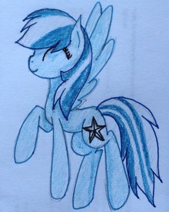 FANMADE Blue Pegasus OC
