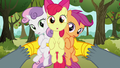 Gabby holding up the Cutie Mark Crusaders S6E19.png