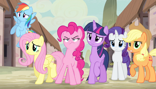 File:Mane Six unsure of villagers' philosophy S5E1.png