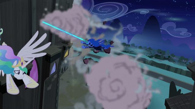 File:Nightmare Moon chasing Princess Celestia S4E02.png
