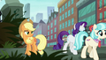 Rarity and Coco leave AJ to her work S5E16.png