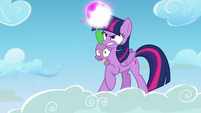 Twilight about to create bubble shield S5E26