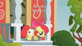 Apple Bloom sadly walking out of school S1E12.png