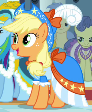 File:Applejack coronation dress ID S3E13.png