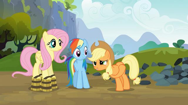File:Applejack is an unconvincing damsel in distress S03E09.png