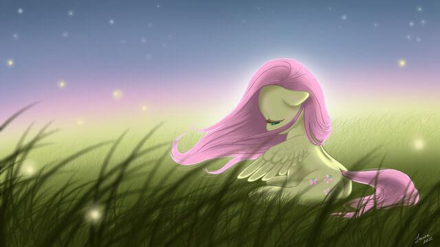 File:FANMADE Fluttershy in a field.jpg
