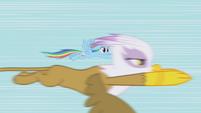 Gilda speeds past Rainbow Dash S1E05
