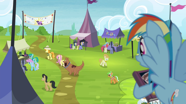 File:Rainbow sees Fluttershy leaving with collector S4E22.png