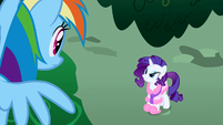 Rarity getting mad at Rainbow Dash S1E14