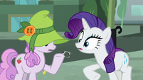 Rarity slaps bit out of the mare's hoof S5E16