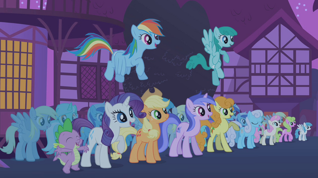 File:Ponies cheering for Twilight S1E06.png
