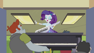 Rarity riding piano out of music room EG2