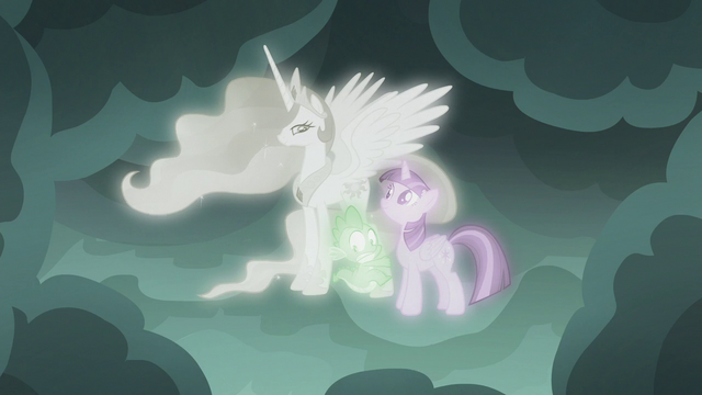 File:Spike hugging Princess Celestia's hoof S7E1.png