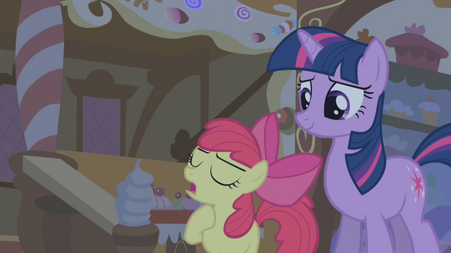 "File:Apple Bloom ""you know what I think?"" S1E09.png"
