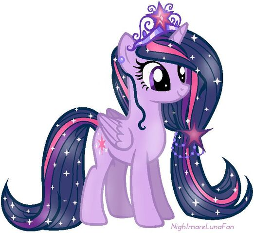 File:FANMADE Princess Twilight with glittering mane and tail.jpg
