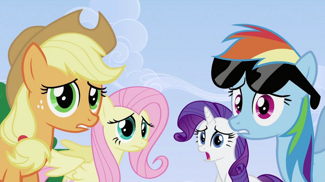 File:Applejack, Fluttershy, Rarity and Rainbow Dash S2E03.png