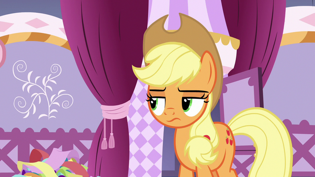 File:Applejack looks at Hoity and Photo Finish's belts S7E9.png
