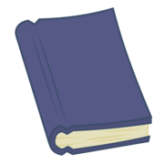 FANMADE vector dark blue book