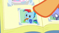 Photo of Baby Rainbow Dash eating a carrot S7E7