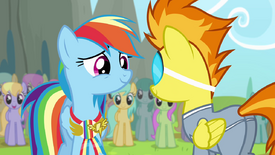 Rainbow smiling at Spitfire S4E10.png