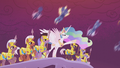 Celestia leads her forces into battle S5E25.png