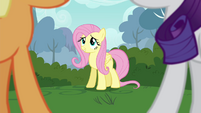 "Fluttershy ""quietly doesn't come naturally"" S4E16"