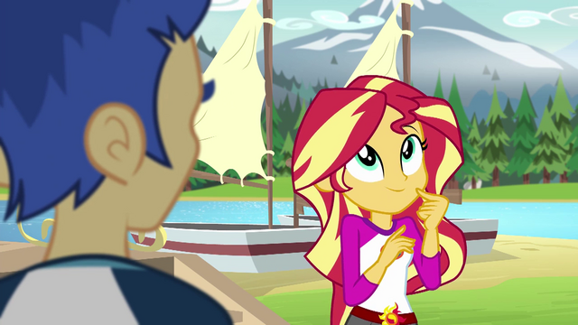 File:Sunset Shimmer thinking of an excuse EG4.png