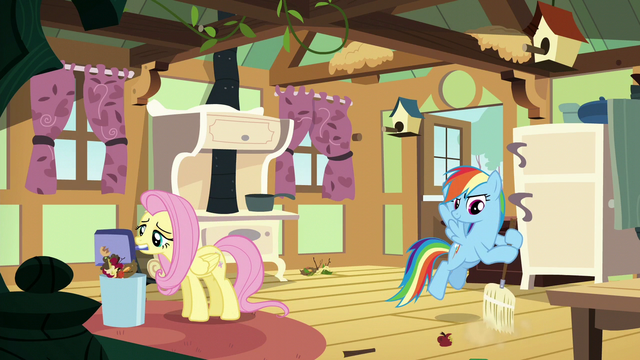 File:Fluttershy and Rainbow clean Fluttershy's kitchen S6E11.png