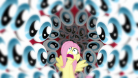 Fluttershy surrounded by eyes S2E22