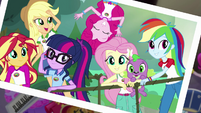 Photograph of Equestria Girls on rope bridge EG4