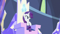 Rarity sitting in her throne S5E1