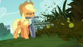 Applejack mowing grass and weeds S5E16.png