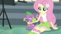 Fluttershy scratching Spike's chin EGS1.png