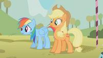 Rainbow Dash sweating S1E13