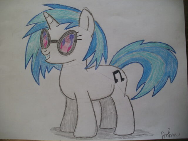 File:FANMADE DJ Pon-3 drawing by ThomasVeggieDramaFan.jpg