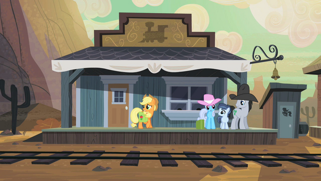 File:Applejack at the Dodge Junction train station S2E14.png