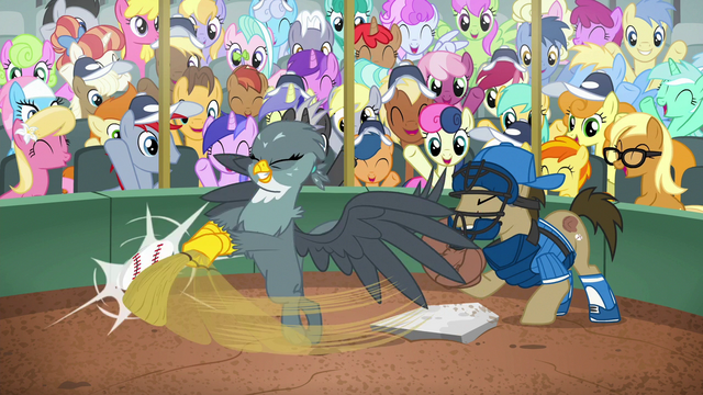 File:Gabby strikes baseball with her bat S6E19.png