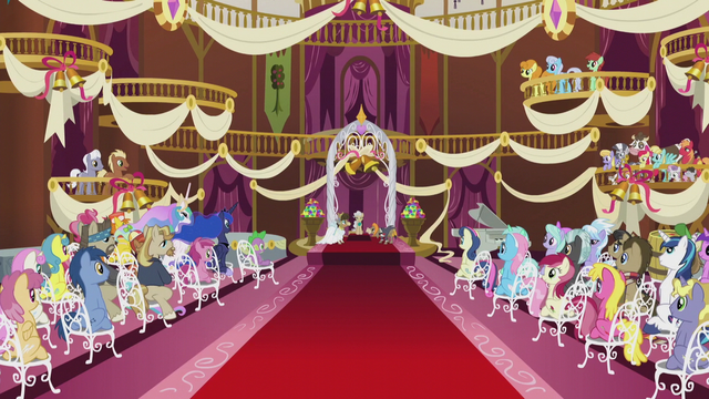 File:Ponies at Cranky Doodle and Matilda's wedding ceremony S5E9.png