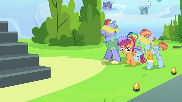 File:Scootaloo leading blindfolded Bow and Windy S7E7.png