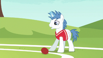 Softball rolling at Shooting Star's hooves S6E18