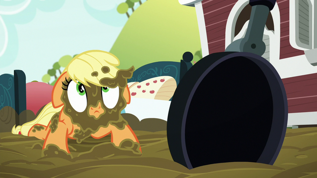 File:Applejack muddy and looking up S6E15.png