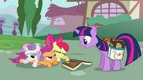 CMC bumping into Twilight S2E17