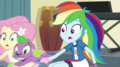 Pinkie pulls on Fluttershy and Rainbow Dash EGS1.png